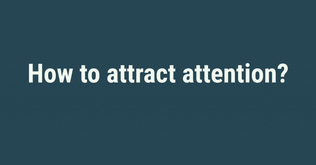 how to attract attention in social advertising ?